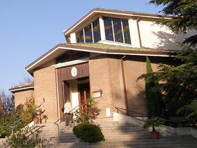 Facciata esterna della chiesa di santa barbara