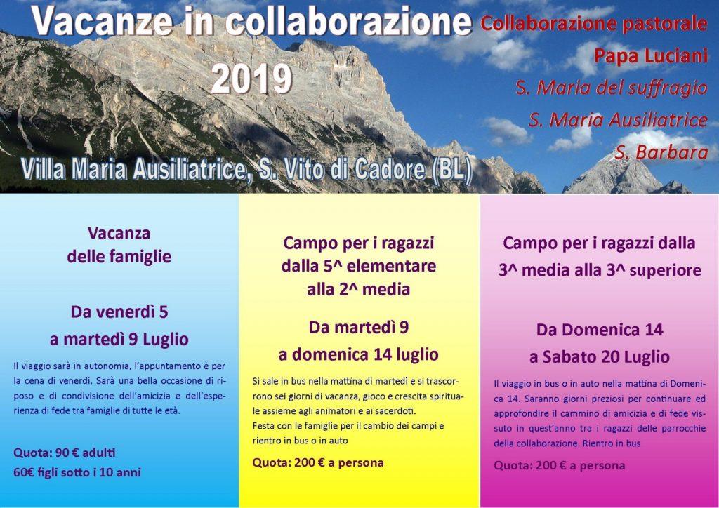 Vacanze in collaborazione