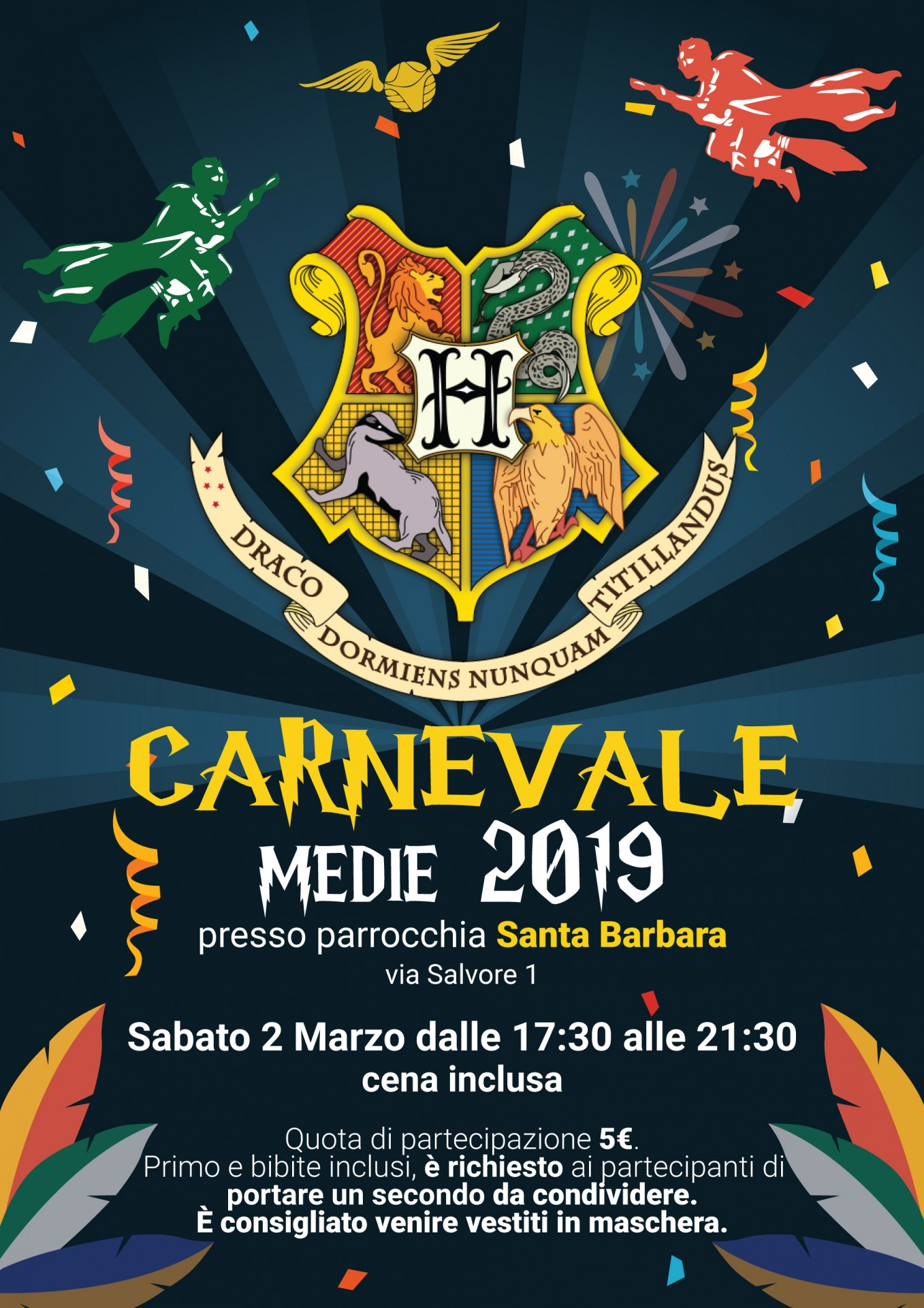 Carnevale Medie 2019 Locandina