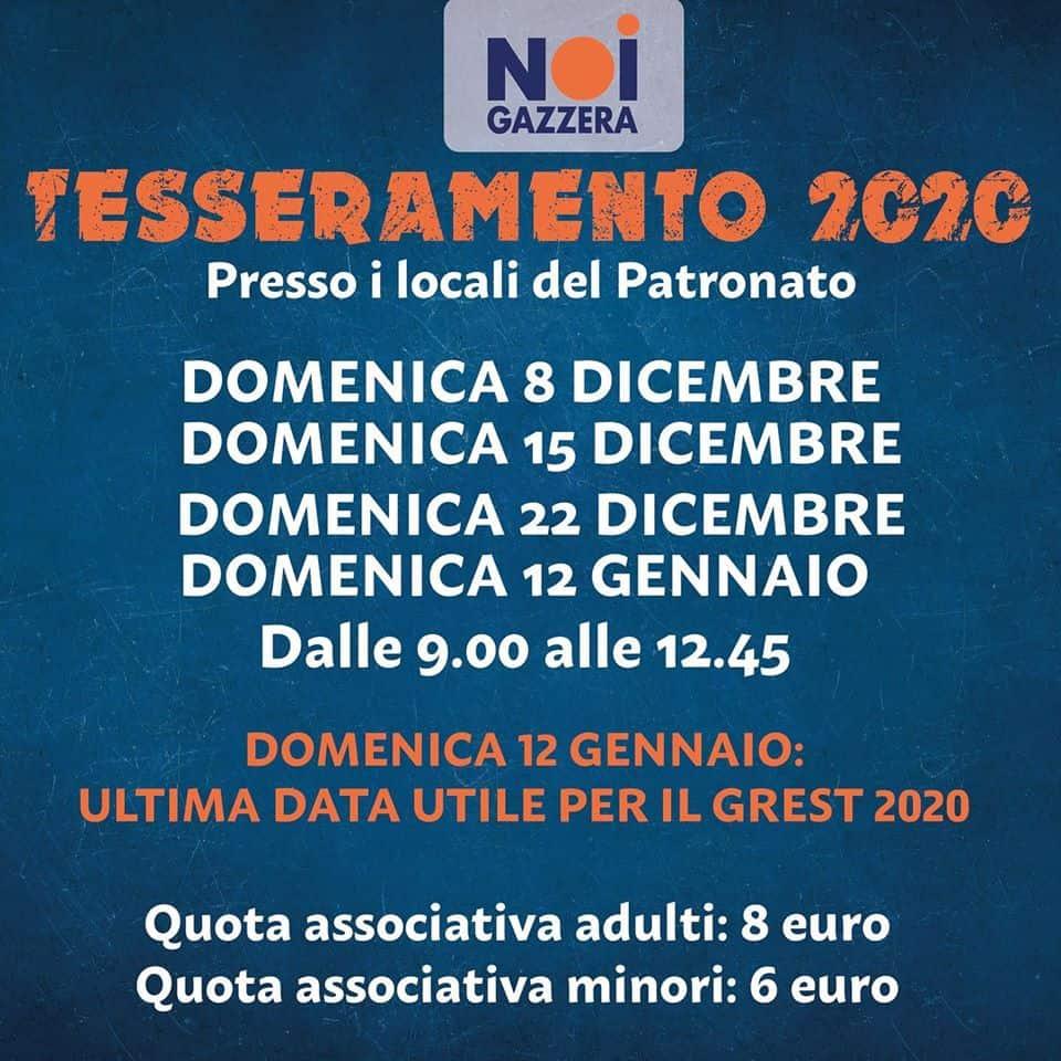 Tesseramento NOI 2020